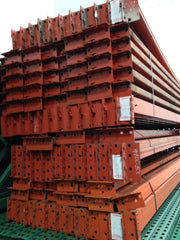 "Pinhole Pallet Racking Beams - Used 108"" x 3"""