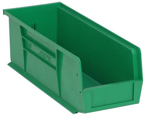 "Tan Stack and Hang Storage Bin 14 3/4"" x 5 1/2"" x 5"" 12 Pack 