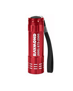 Raymond Flashlight in red with push button