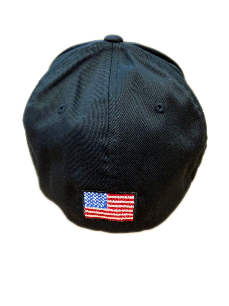 Raymond Cap Back showing American Flag