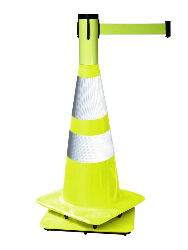 Retracta-Cone 15 feet yellow belt with yellow finish