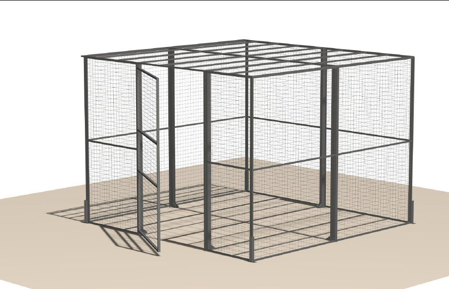 4 Sided Wire Enclosure 10' x 10'