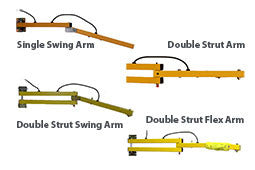 Double-Strut Swing Arm Dock Light | Tri Lite