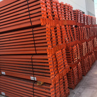 "Used 144"" x 5""  Pallet Rack Beams 4 pin connection"