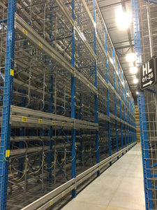 Shelving supported Catwalk and selective rack project