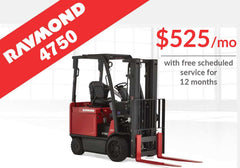 RAYMOND 4750 sit-down counterbalanced truck