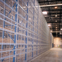 Pallet Rack Backing with Wire Mesh Panels