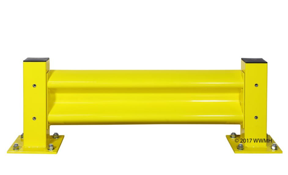 Guard Rail: Industrial Safety Guard Rails, Set of 2 Posts and 1 Rail