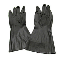 Black PVC Gloves, Large