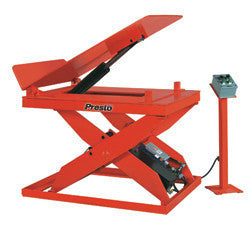 Hydraulic Lift and Tilt Table Side View