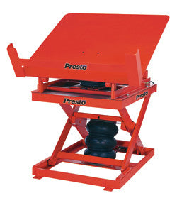 Presto Lift Air Powered Lift and Tilt Table front