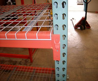 "Used Pallet Rack upright 44"" X 264"" 6 X 6 FT plat"