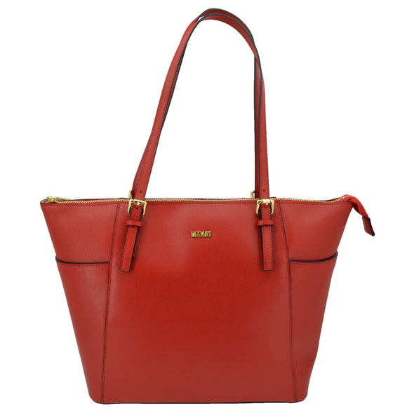 UGGARI Borsa da Donna Shopper a Spalla, In Vera Pelle Saffiano, Made in Italy - GreSel