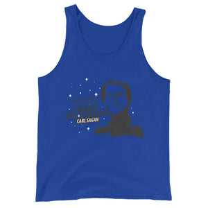 """I Don't Want to Believe, I want to Know,"" Sagan- Unisex  Tank Top"