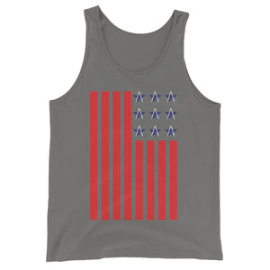 American Flag WIth Atheist Symbol- Unisex  Tank Top