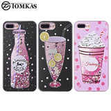 Quicksand Case For iPhone 7, 7 Plus Soft Drink Soda Cocktail Silicone