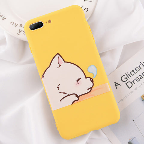USLION Phone Cases For iPhone XR XS MAX XS X 8 Plus Cartoon Giraffe Silicon Back Cover For iPhone 7 6 6s Plus 5 5s SE Soft Cases