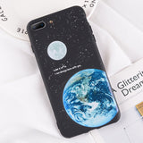 USLION Moon Stars Phone Case  iPhone XR XS MAX Silicon Cartoon Back Cover For iPhone X 8 7 6 6S Plus 5 5s SE Soft TPU Cases