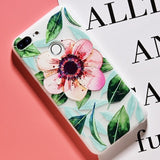 3D Relief Flower Phone Case For Honor 9 lite Soft Silicone Case