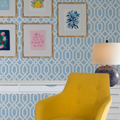 "Designing a Room With ""Blue Trellis"""