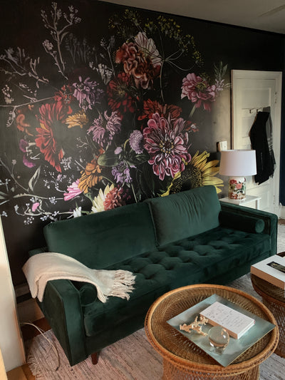 Black Wallpaper Feature Wall