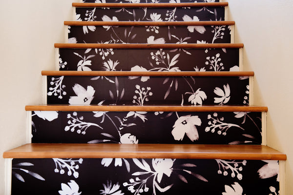 Easy Steps to Wallpaper Stairs