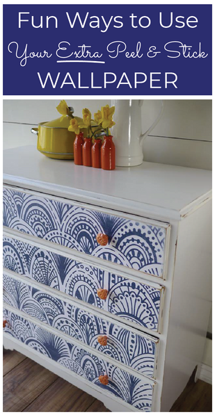 Fun Ways to Use Your Extra Peel and Stick Wallpaper