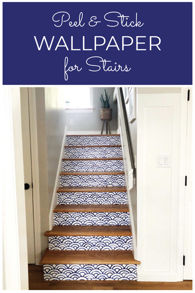 How to Wallpaper Stairs wit Removable Wallpaper