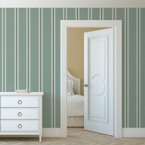 Vintage stripes peel and stick wallpaper
