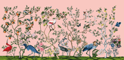 MUSE Wall Studio Bird and Branch Mural in Pink