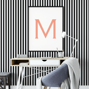 MUSE Wall Studio Black and White Stripes