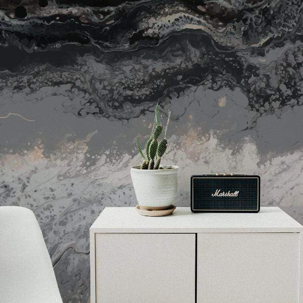 MUSE Wall Studio Black Sand Abstract Wall Mural