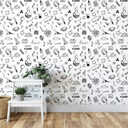 MUSE Wall Studio Scientific Method Drawing Wallpaper