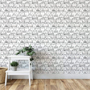 MUSE Wall Studio Tell a Tail Doodle Wallpaper