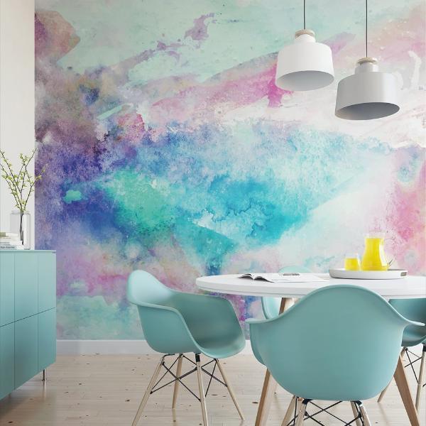 MUSE Wall Studio Cool Tones Watercolor Wall Mural