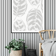 MUSE Wall Studio Gray and White Stripes