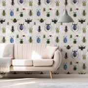 MUSE Wall Studio Natural Wonder Beetles in White