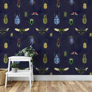 MUSE Wall Studio Natural Wonder Beetles in Navy
