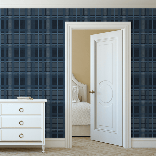 MUSE Wall Studio Navy Nostalgic Plaid