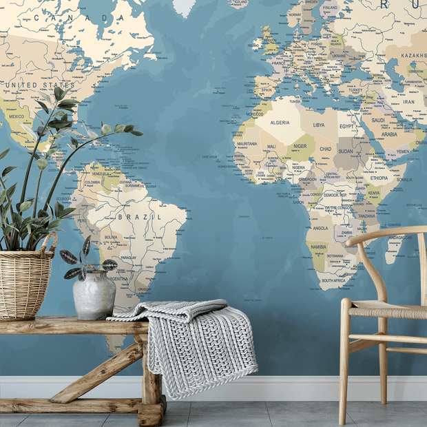 MUSE Wall Studio World Map Mural