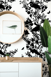 MUSE Wall Studio Silhouette Bird and Branch on White