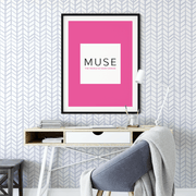 MUSE Wall Studio Soft Blue Herringbone