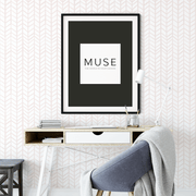 MUSE Wall Studio Soft Pink Herringbone