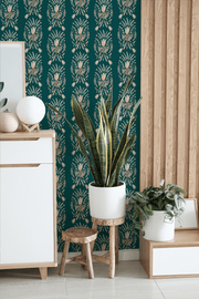 MUSE Wall Studio Teal Damask