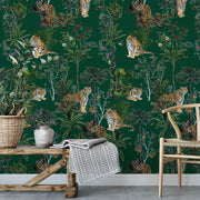 MUSE Wall Studio Tiger Tropics in Green