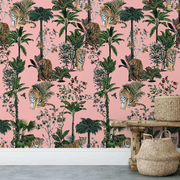 MUSE Wall Studio Tiger Tropics in Pink