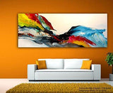 Big Splash Unframed Abstract Modern Art Canvas painting (Multicolour )