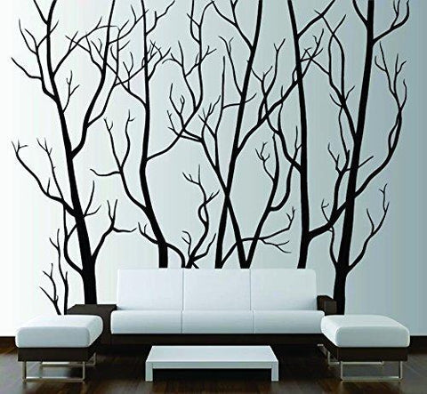 Tree Forest Branches with Birds Wall Decal Sticker