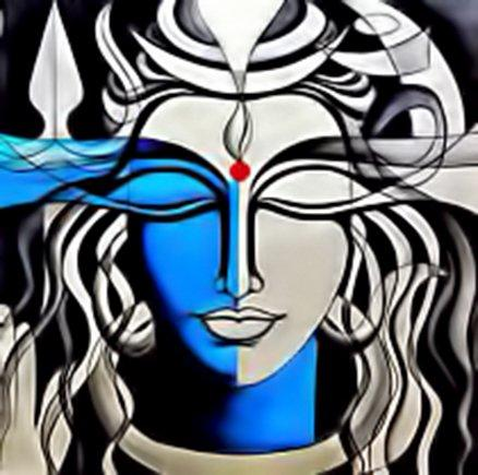 Lord Shiva Painting-Canvas Painting of Lord Shiva