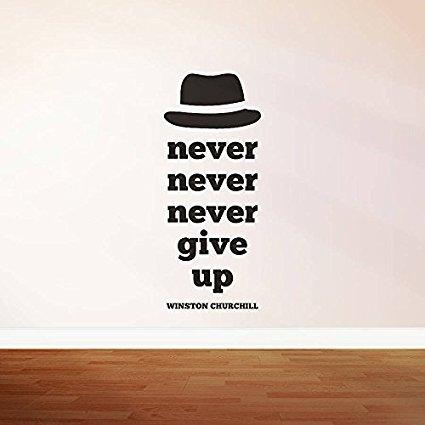 Self Adhesive Wall Stickers Winston Churchill Motivational Quotes